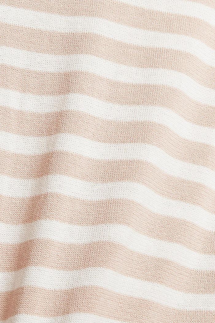 Striped jumper in 100% cotton, PASTEL PINK, detail image number 4