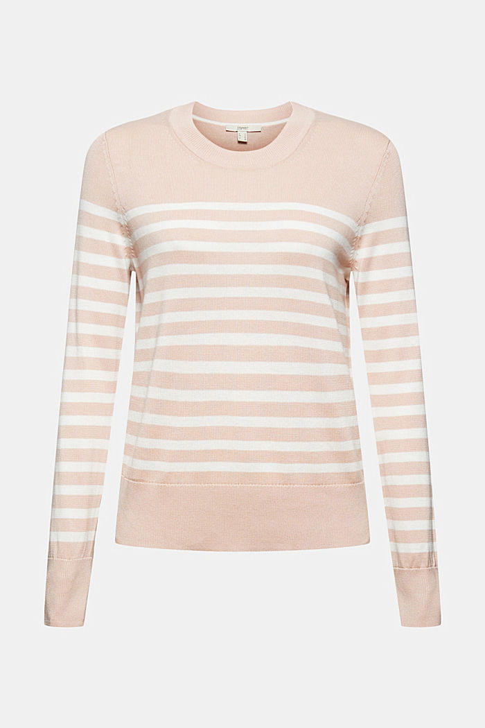 Striped jumper in 100% cotton, PASTEL PINK, detail image number 5
