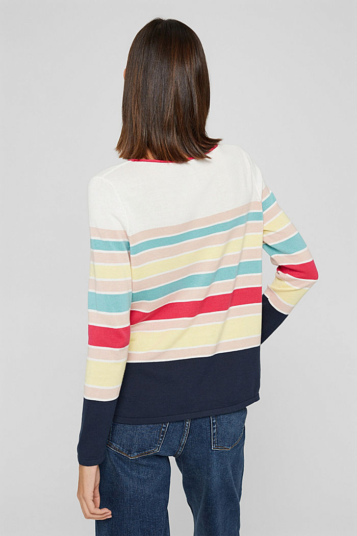 Pull-over rayé, 100 % coton, OFF WHITE, detail image number 3