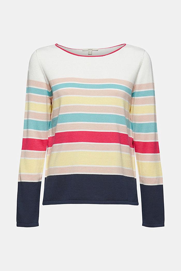 Sweter w paski ze 100% bawełny