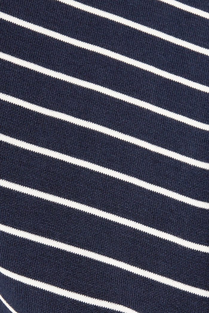 Pull-over rayé, 100 % coton, NAVY, detail image number 4