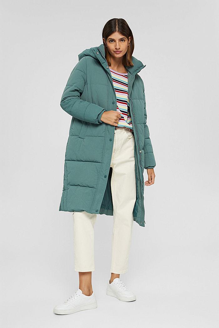 Gestreifter Pullover aus 100% Baumwolle, LILAC, detail image number 1
