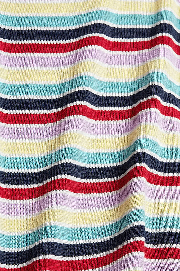Gestreifter Pullover aus 100% Baumwolle, LILAC, detail image number 4