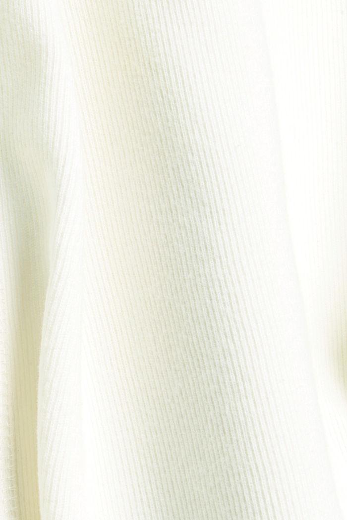 Brushed Zipp-Hoodie aus Bio-Baumwoll-Mix, OFF WHITE, detail image number 4