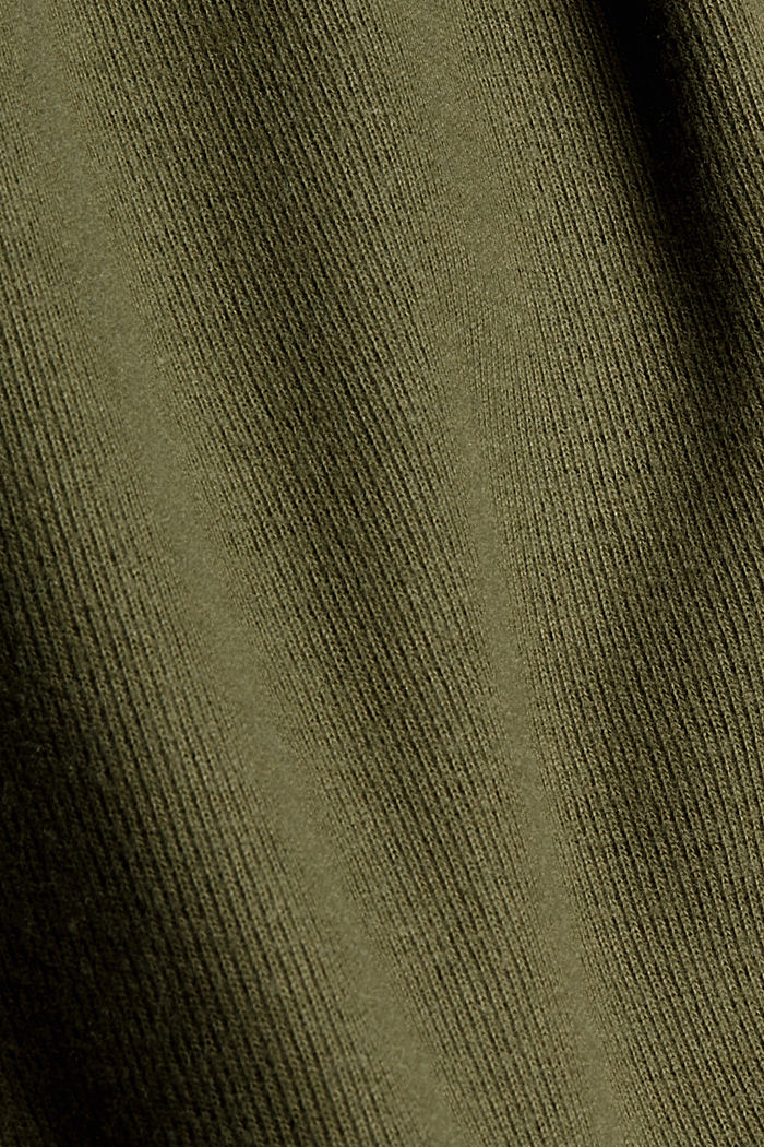 Brushed Zipp-Hoodie aus Bio-Baumwoll-Mix, DARK KHAKI, detail image number 4
