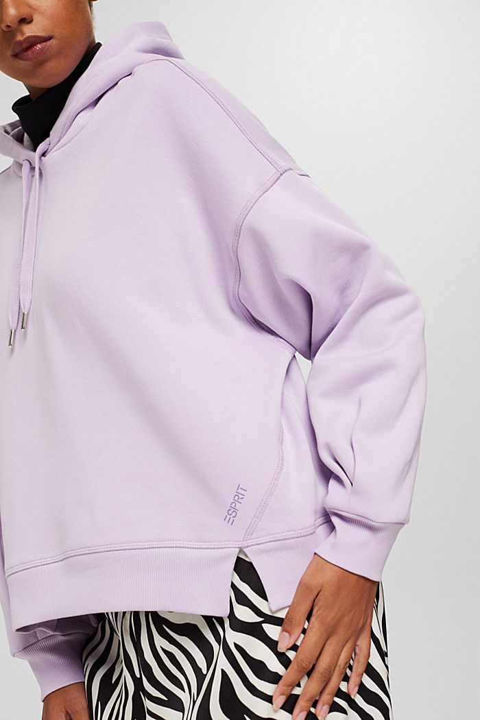 Hooded sweatshirt made of 100% cotton, LILAC, detail image number 2