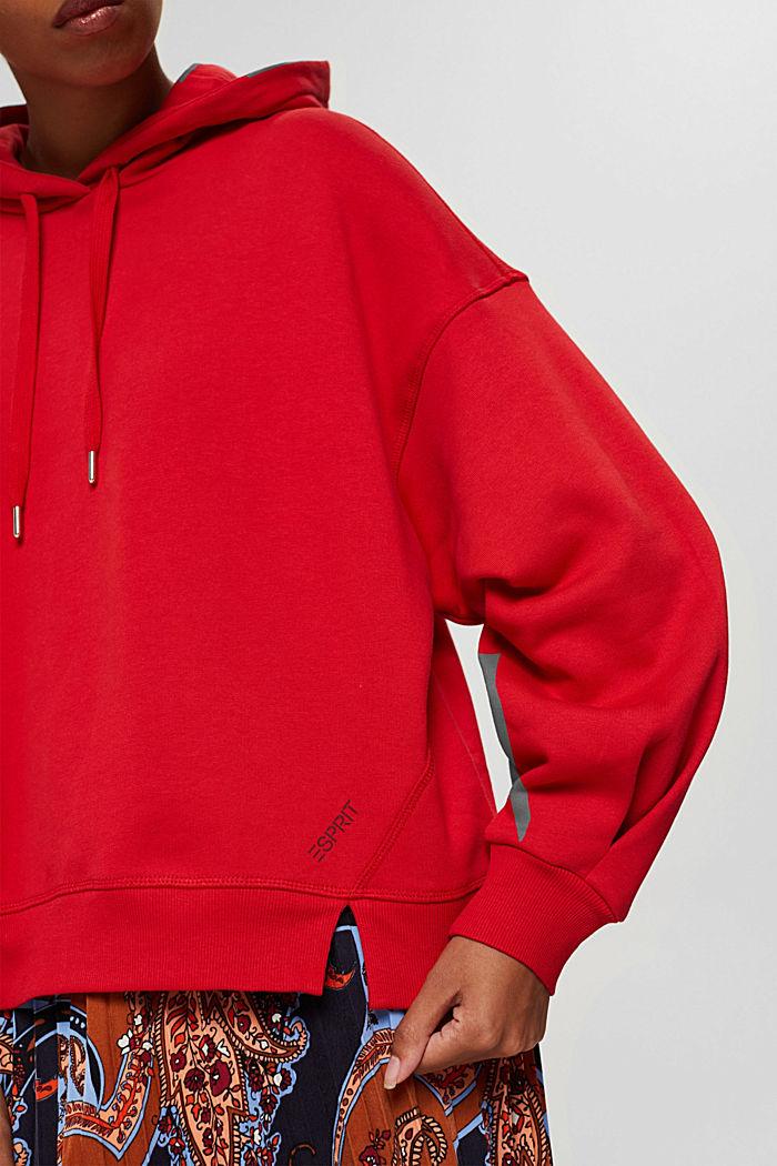 Sweathoodie van 100% katoen, RED, detail image number 2