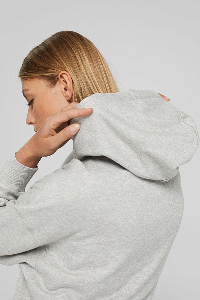 Sweat à capuche 100% coton, LIGHT GREY, detail image number 8