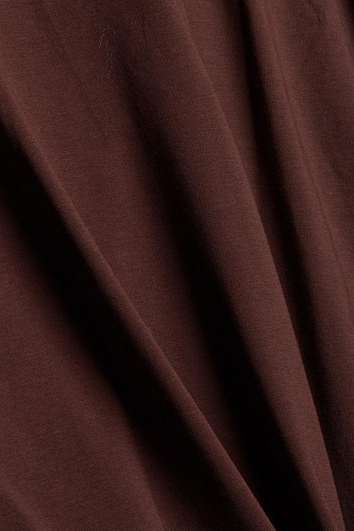 Longsleeve mit Rollkragen, Organic Cotton, RUST BROWN, detail image number 4