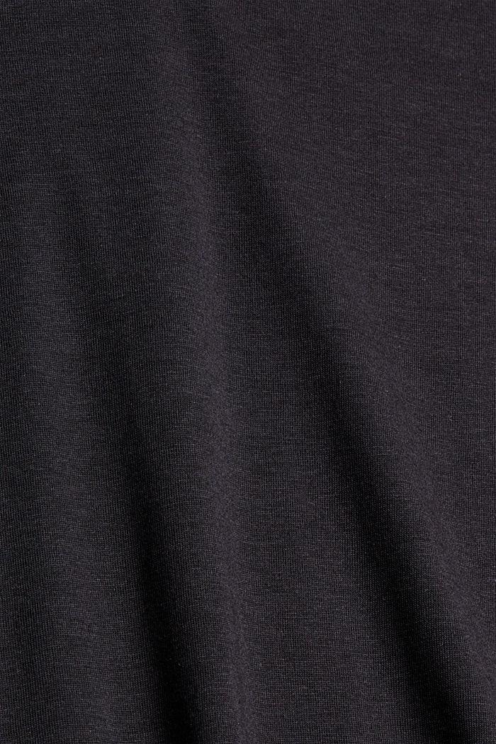 Met TENCEL™: longsleeve met opstaande kraag, BLACK, detail image number 4