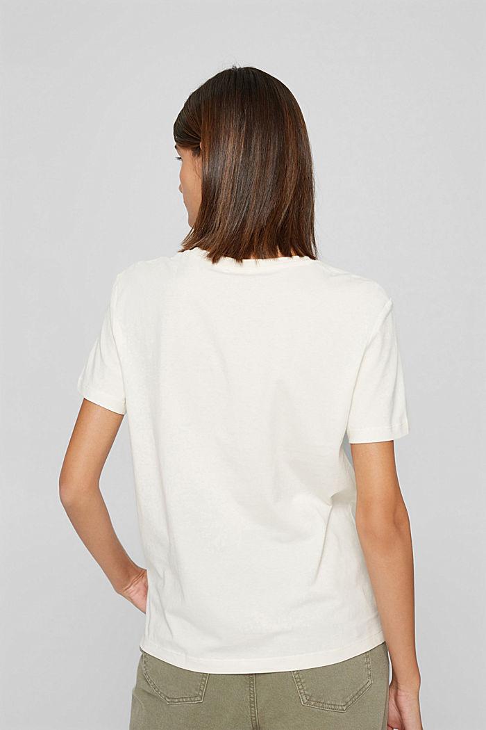 T-shirt met print, 100% biologisch katoen, OFF WHITE, detail image number 3