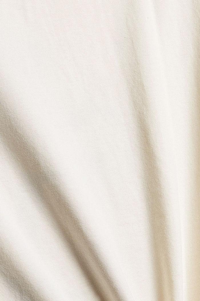 T-shirt met print, 100% biologisch katoen, OFF WHITE, detail image number 4