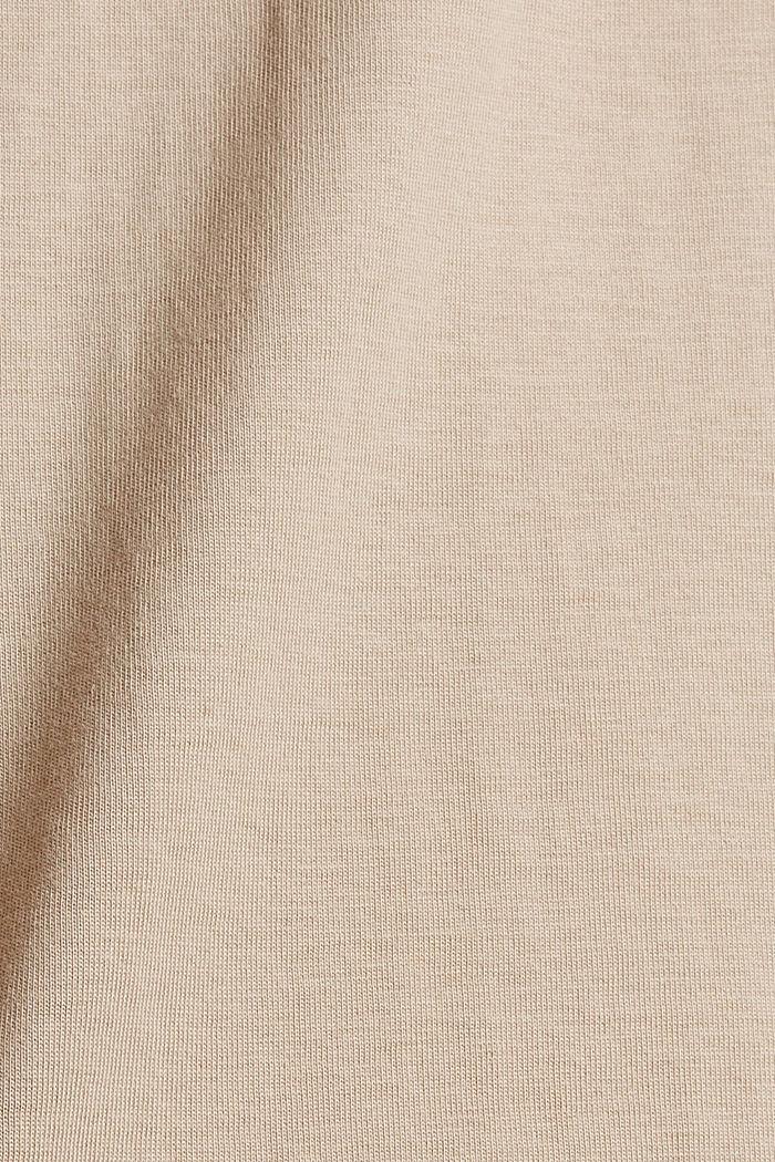 T-shirt met print, 100% biologisch katoen, SAND, detail image number 4
