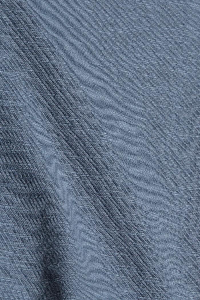 Longsleeve met borduursel, organic cotton, GREY BLUE, detail image number 4
