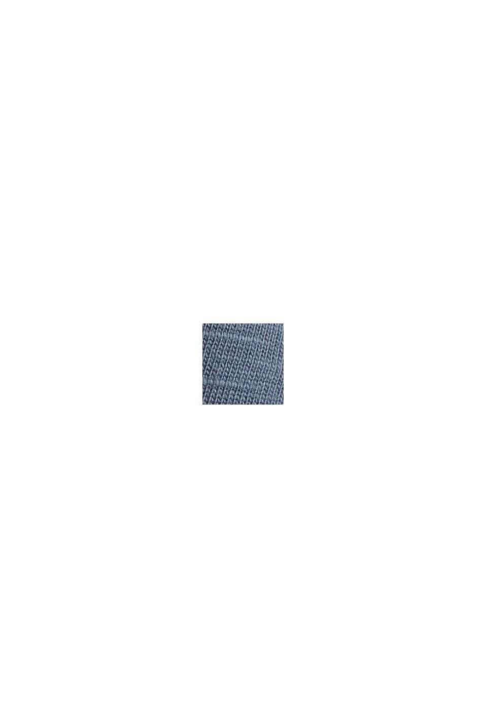 Longsleeve mit Stickerei, Organic Cotton, GREY BLUE, swatch