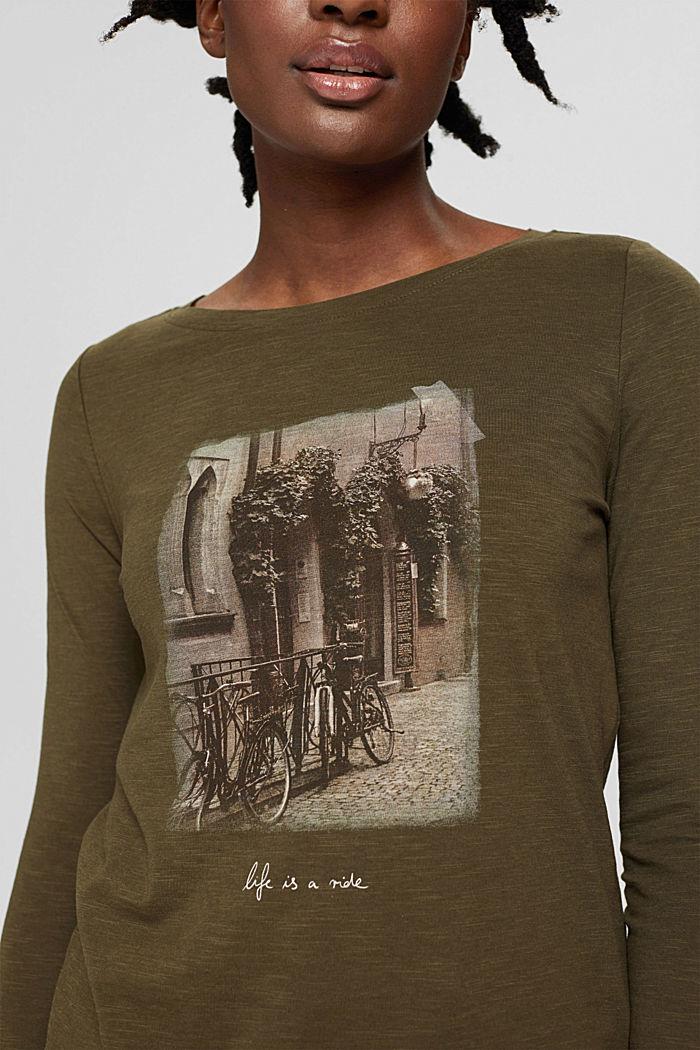 T-Shirts regular fit, DARK KHAKI, detail image number 2
