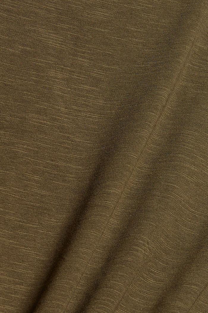 T-Shirts regular fit, DARK KHAKI, detail image number 4