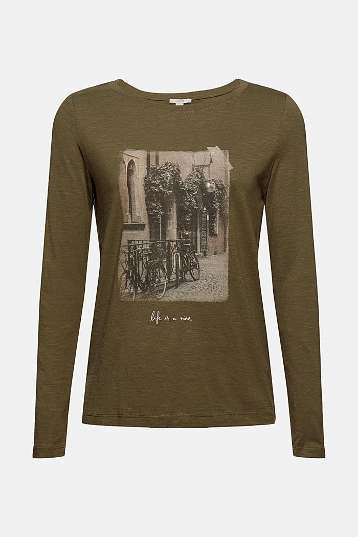T-Shirts regular fit, DARK KHAKI, detail image number 7