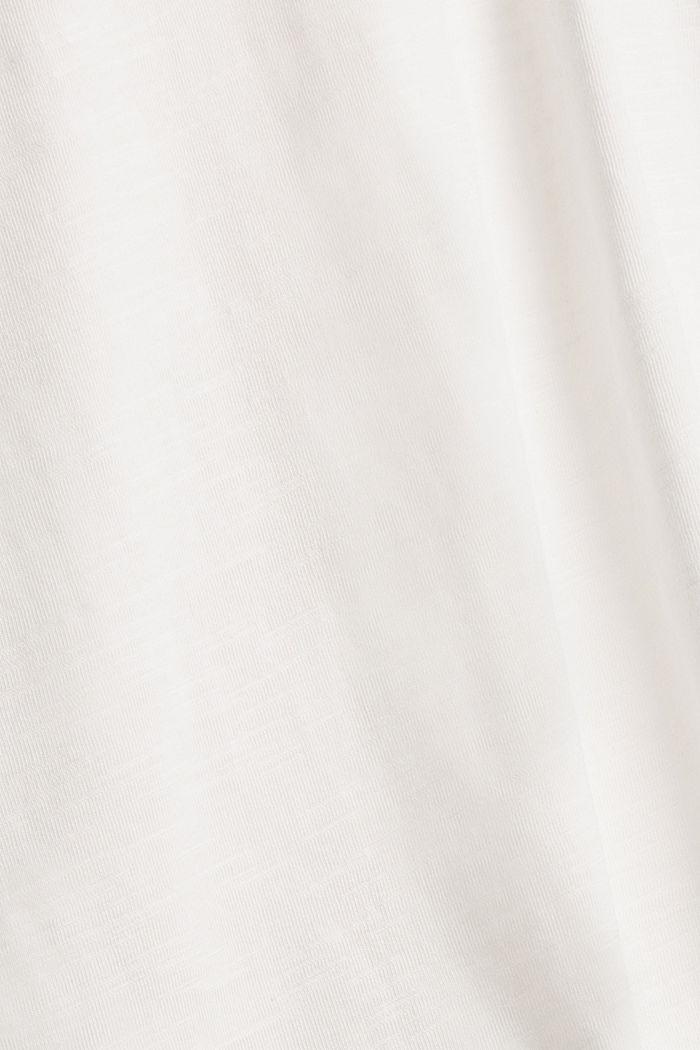 CURVY Henley-Longsleeve aus 100% Bio-Baumwolle, OFF WHITE, detail image number 4