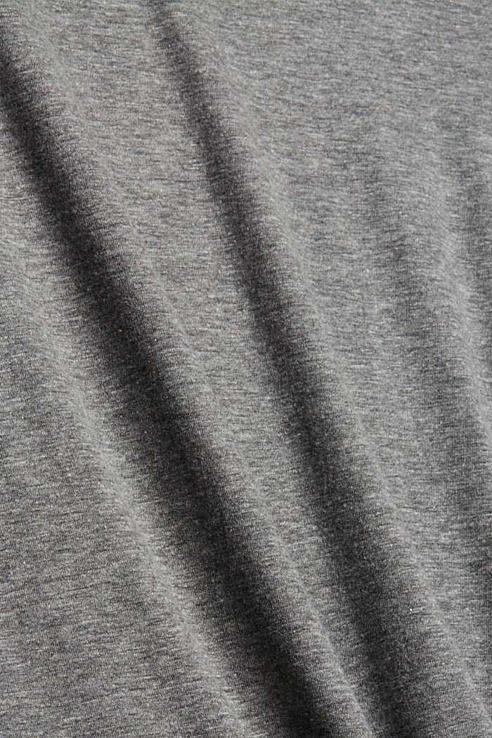 Longsleeve mit Rollkragen, Bio-Baumwoll-Mix, GUNMETAL, detail image number 4