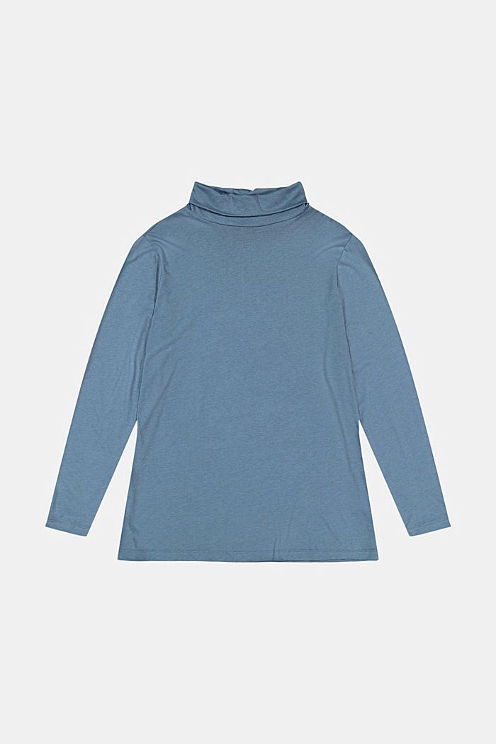 CURVY long sleeve top with a polo neck, TENCEL™