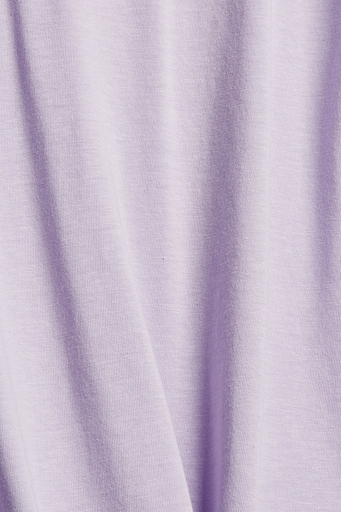 CURVY long sleeve top with a polo neck, TENCEL™, LILAC, detail image number 4