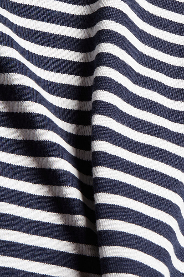 Gestreiftes Longsleeve aus Organic Cotton, NAVY, detail image number 4
