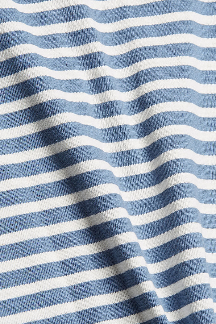 Striped long sleeve top in organic cotton, GREY BLUE, detail image number 4