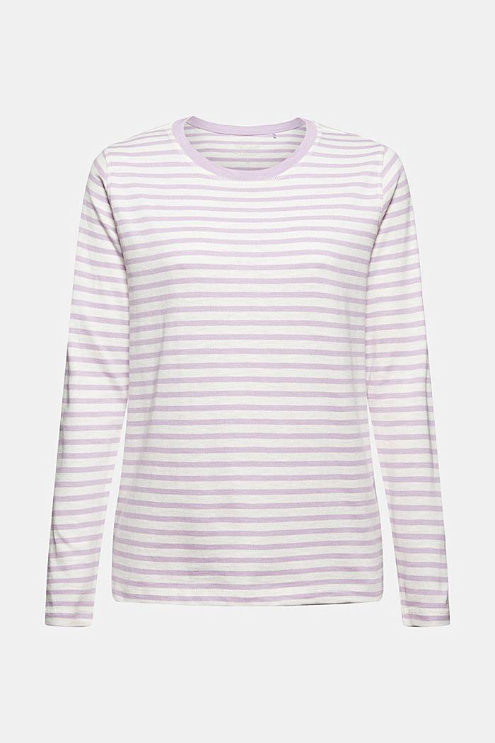 T-shirt rayé à manches longues en coton bio