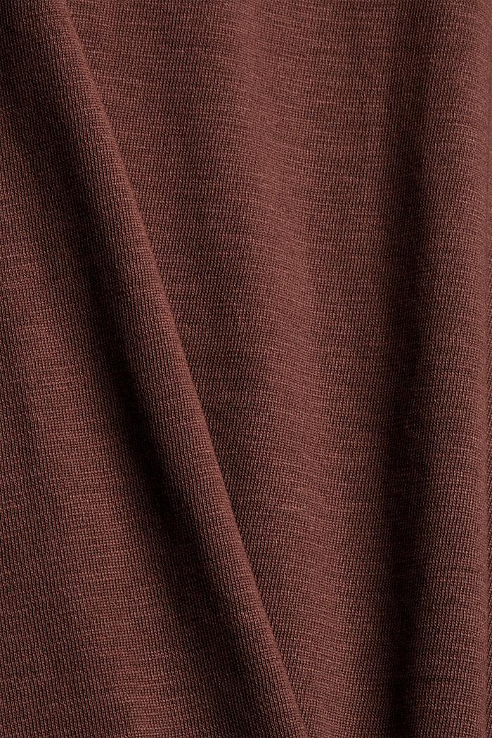 Longsleeve aus 100% Bio-Baumwolle, RUST BROWN, detail image number 4