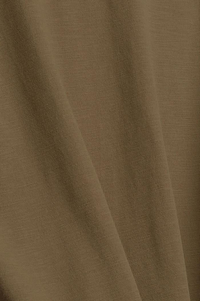 Longsleeve aus 100% Bio-Baumwolle, DARK KHAKI, detail image number 4