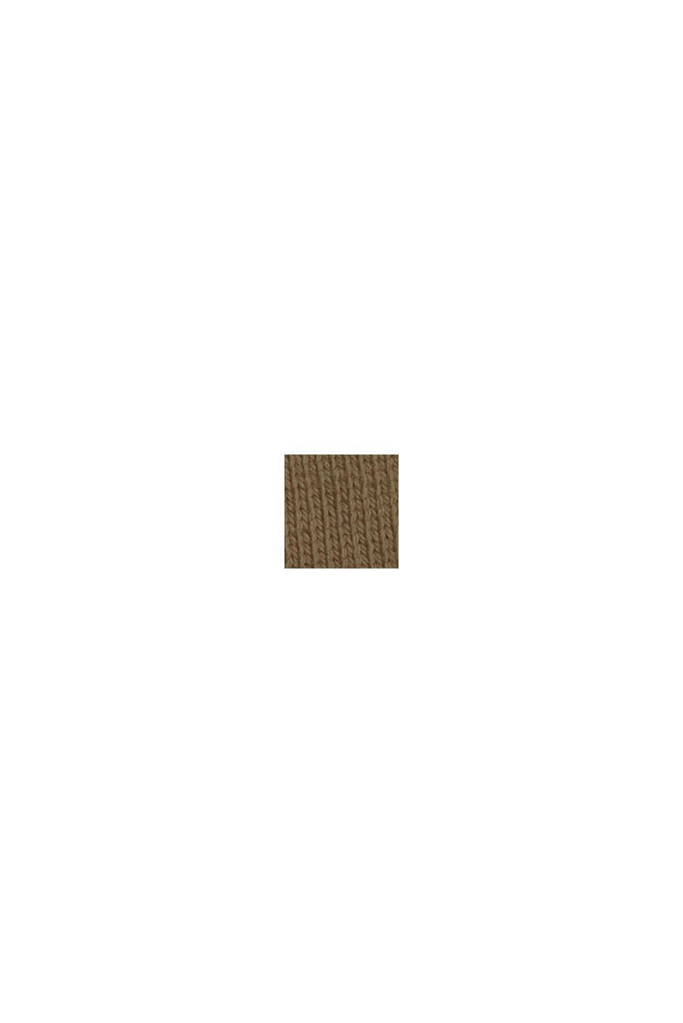 Longsleeve aus 100% Bio-Baumwolle, DARK KHAKI, swatch