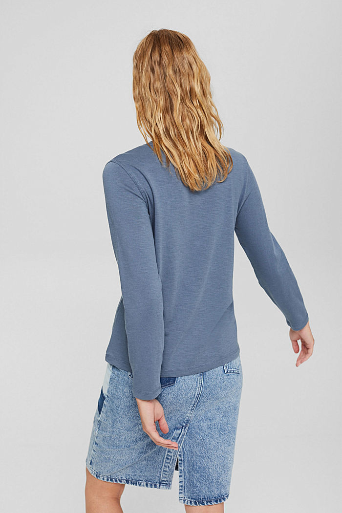 Longsleeve aus 100% Bio-Baumwolle, GREY BLUE, detail image number 3