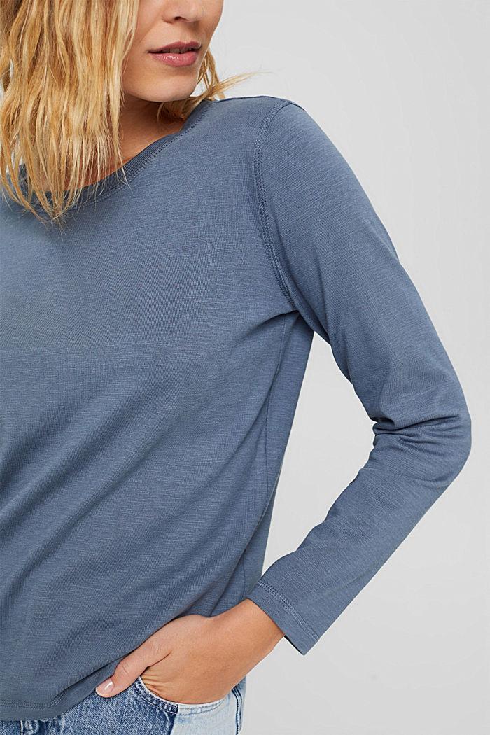 Longsleeve aus 100% Bio-Baumwolle, GREY BLUE, detail image number 2