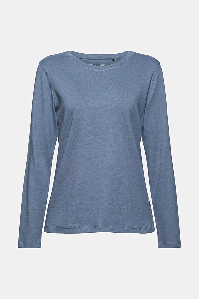 Longsleeve aus 100% Bio-Baumwolle, GREY BLUE, detail image number 6