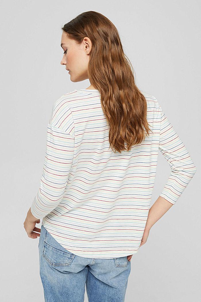 Longsleeve mit Streifen, 100% Bio-Baumwolle, OFF WHITE, detail image number 3