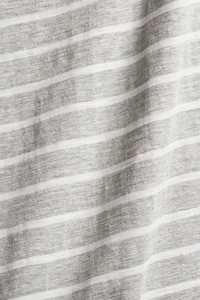 Longsleeve met strepen, mix met biologisch katoen, LIGHT GREY, detail image number 4