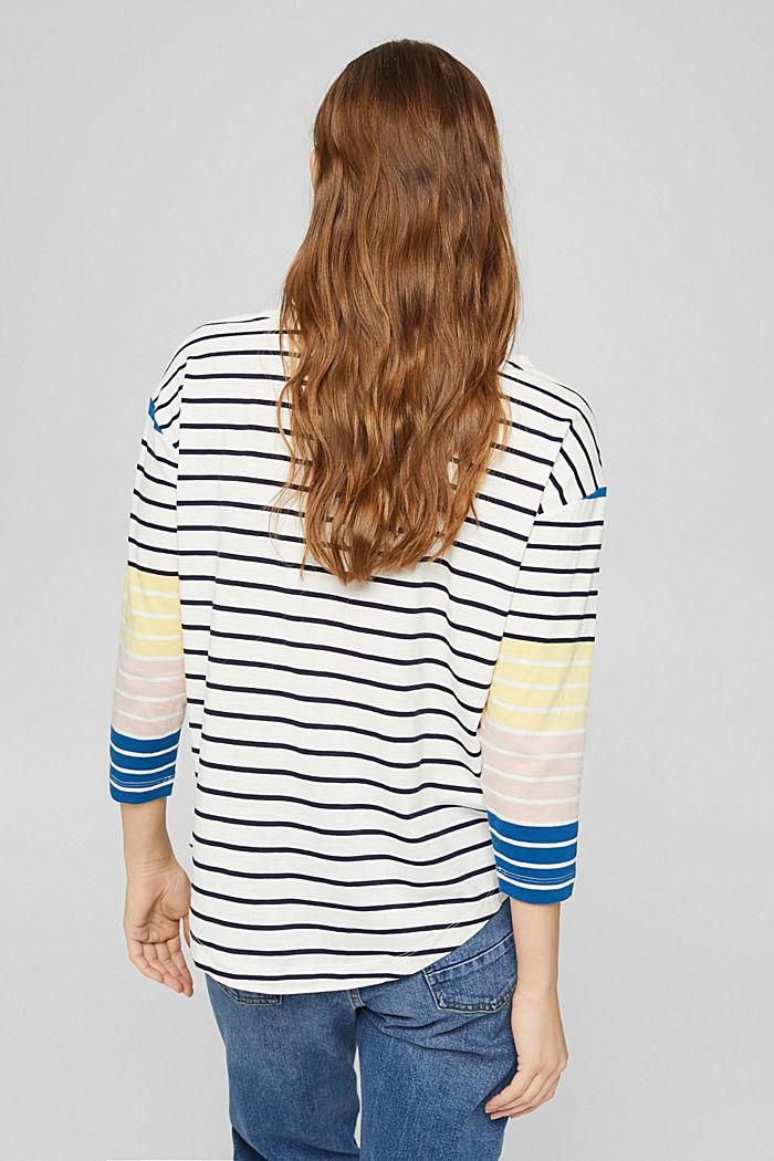Gestreept shirt van 100% biologisch katoen, OFF WHITE, detail image number 3