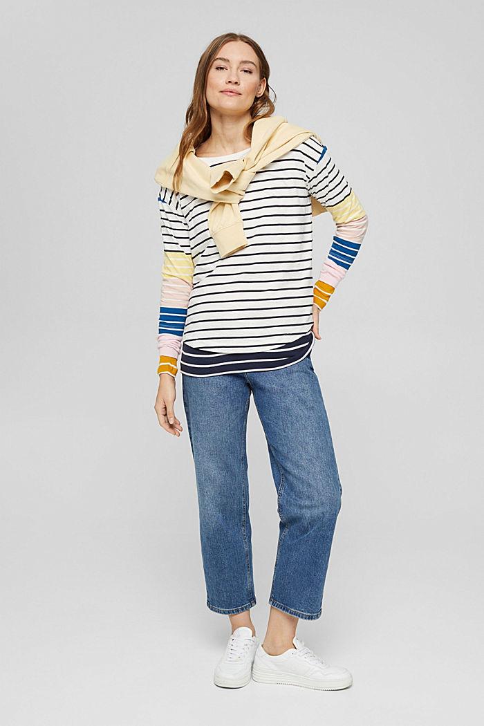 T-shirt à rayures, 100% coton biologique