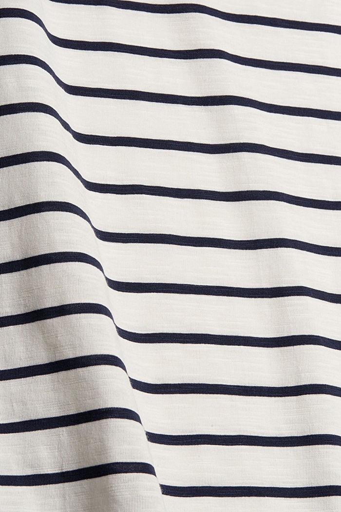 Gestreept shirt van 100% biologisch katoen, OFF WHITE, detail image number 4