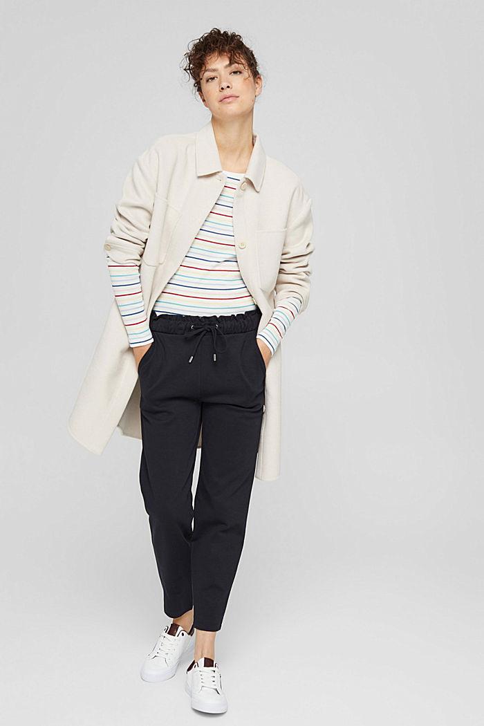 T-shirt à manches longues rayé en coton