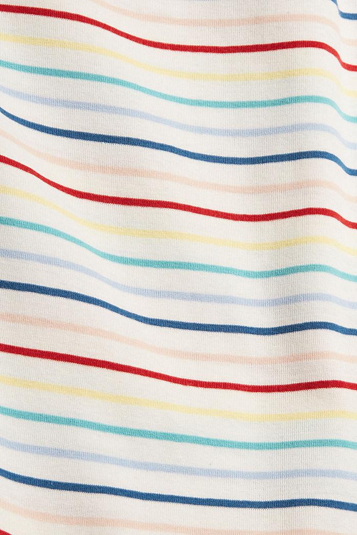 Longsleeve met strepen van katoen, OFF WHITE, detail image number 4