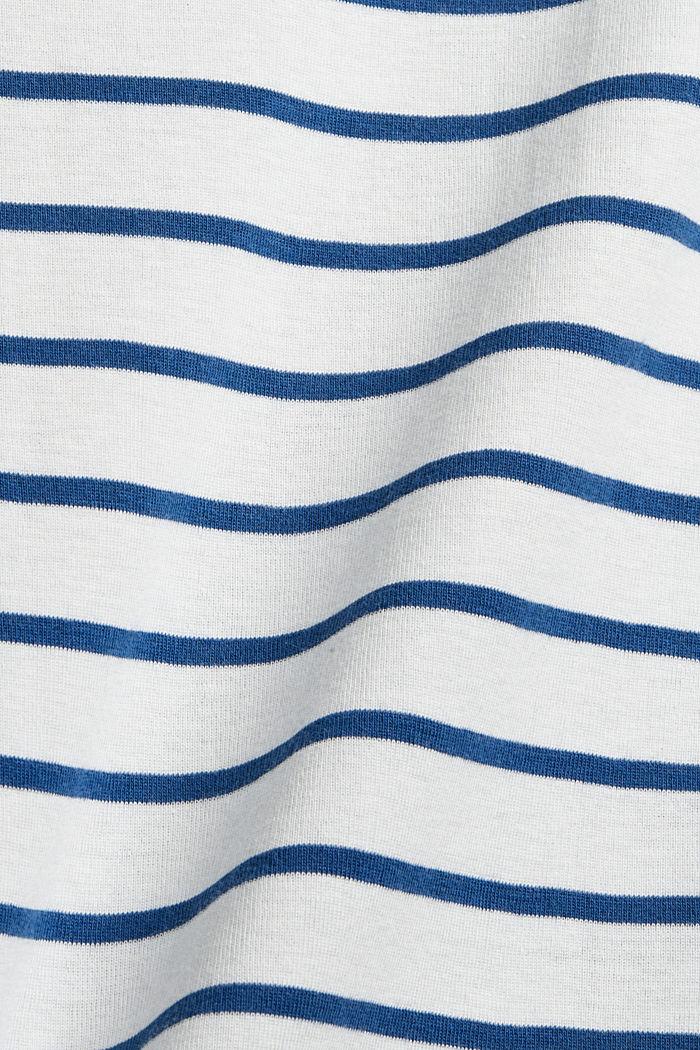 Gestreepte longsleeve van 100% katoen, OFF WHITE, detail image number 4