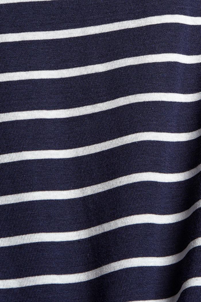 T-shirt à manches longues à rayures, 100% coton, NAVY, detail image number 4