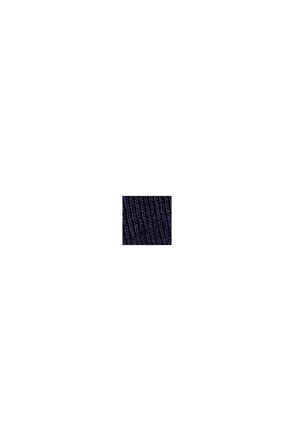 T-shirt à manches longues à rayures, 100% coton, NAVY, swatch