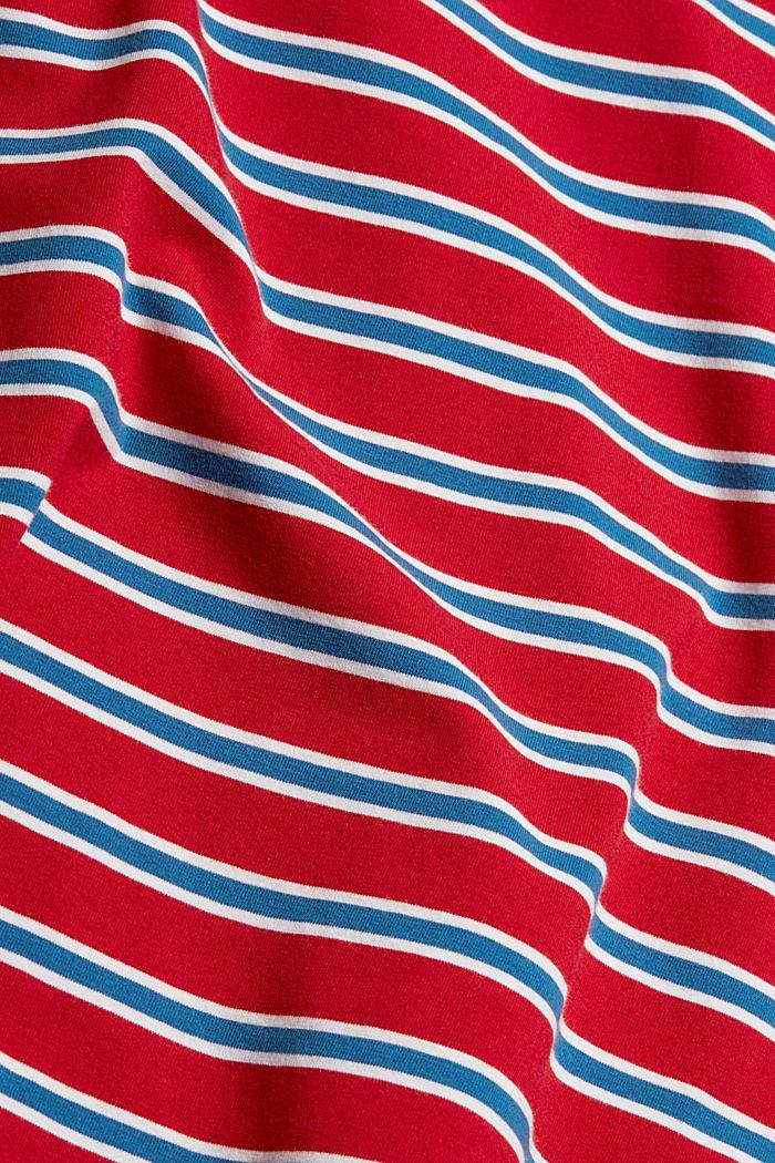Longsleeve mit Streifen, Organic Cotton, RED, detail image number 4