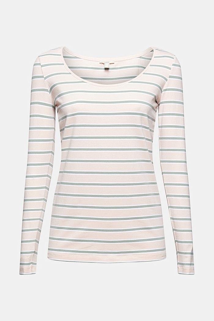 Longsleeve mit Streifen, Organic Cotton, PASTEL PINK, detail image number 7