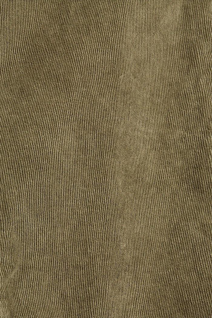 EarthColors® Cordhose aus Organic Cotton, DARK KHAKI, detail image number 4