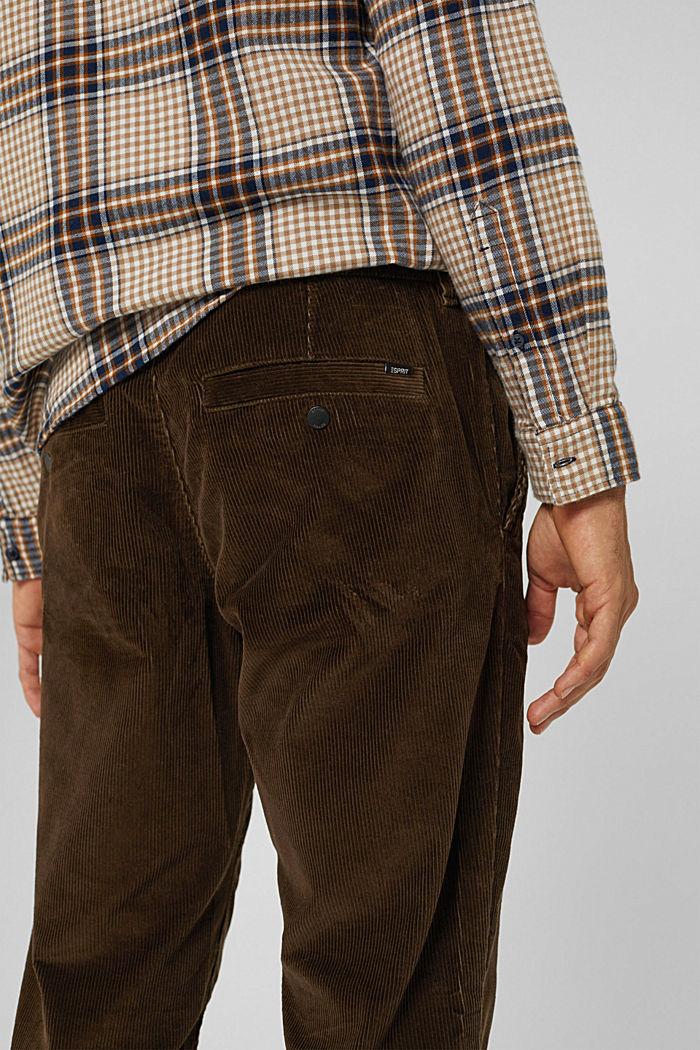 Corduroy broek van 100% organic cotton, BROWN, detail image number 5