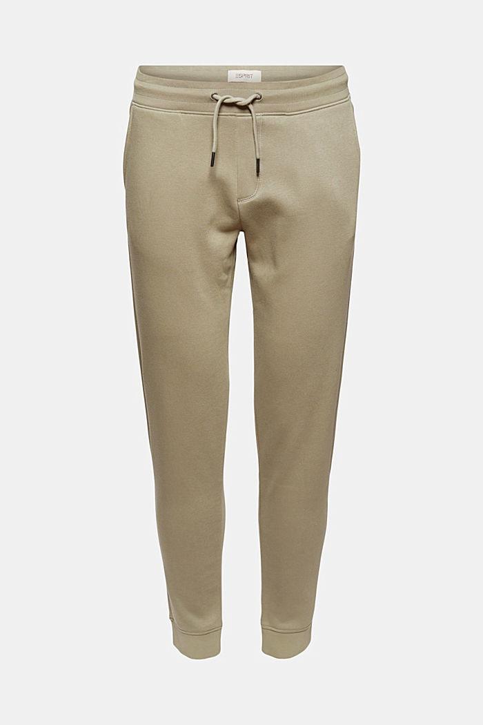In materiale riciclato: pantaloni con ricamo